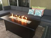 Outdoor Linear Fire Pit and Seating Area on Lanai. Better ...