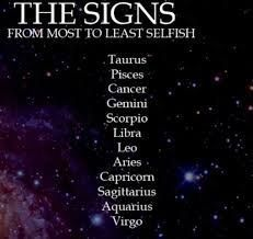 Zodiac Signs  Most To Least Selfish  Selfish, Zodiac And