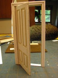 How to make a 1 inch scale dollhouse interior door and ...