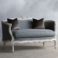 Eloquence One of a Kind Vintage Settee Louis XV Antique ...