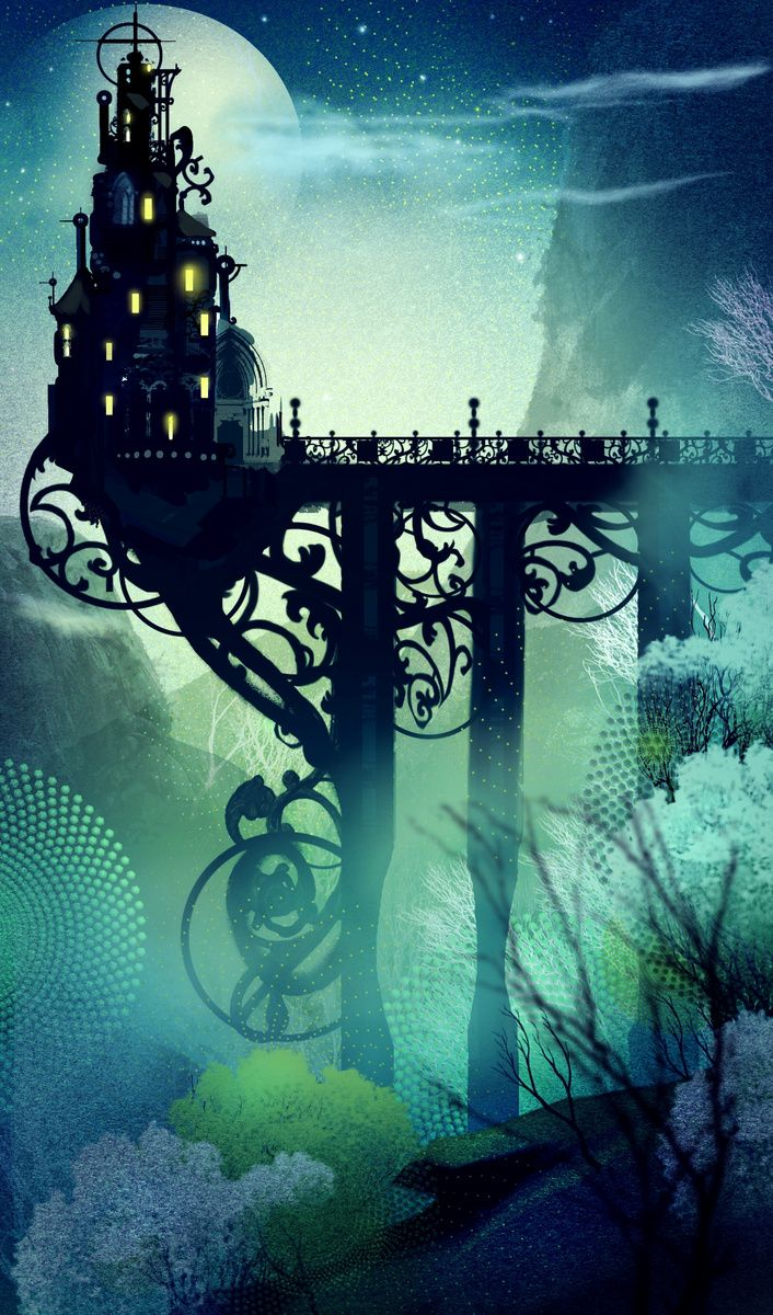Fantasy Girl Dream Floating House Castle Wallpaper The Bridge Extended Only To Mid Chasm There She Lived In