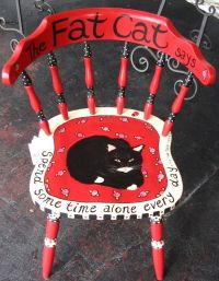 Fat Cat painted chair | O.C.D. (Obsessive Cat Disorder ...