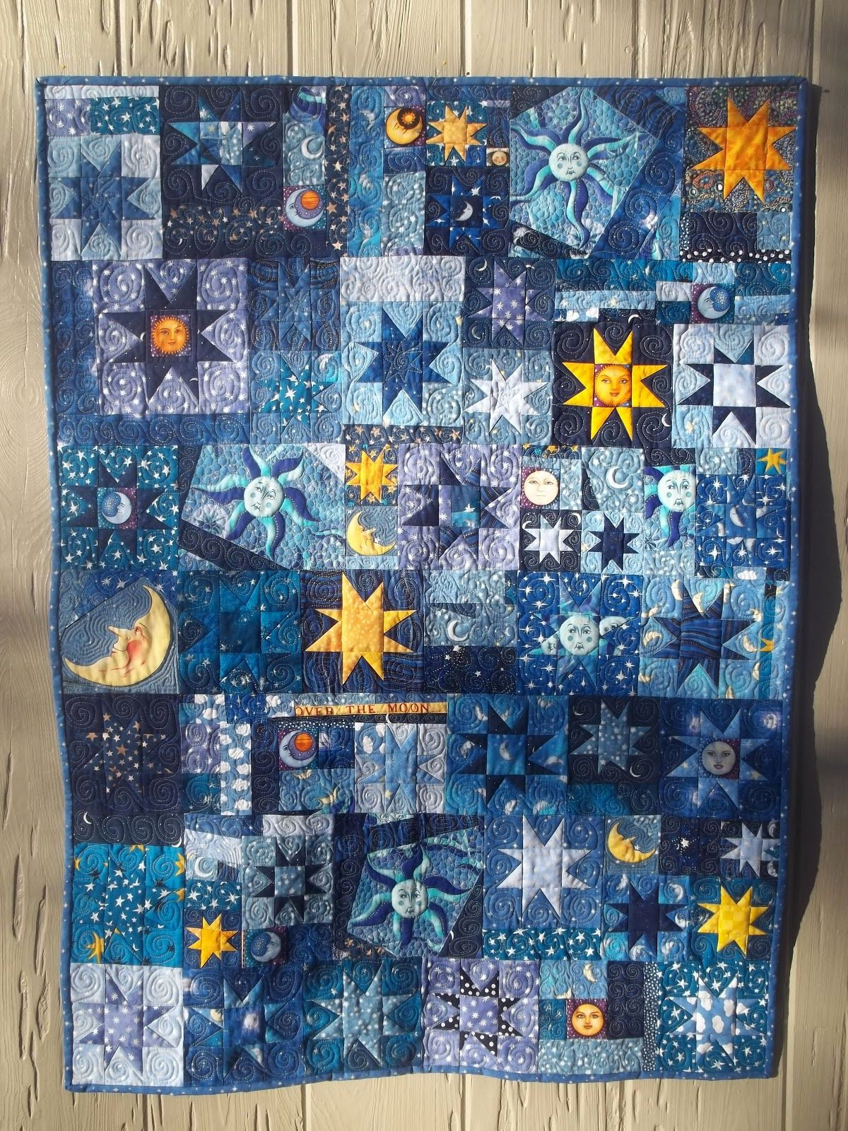Moon And Stars Quilt At Kelly Girl Quilts