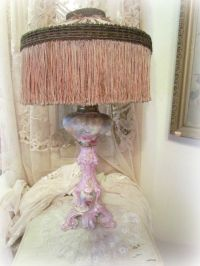 Antique Hand Painted Limoges Pink Roses Lamp by ...