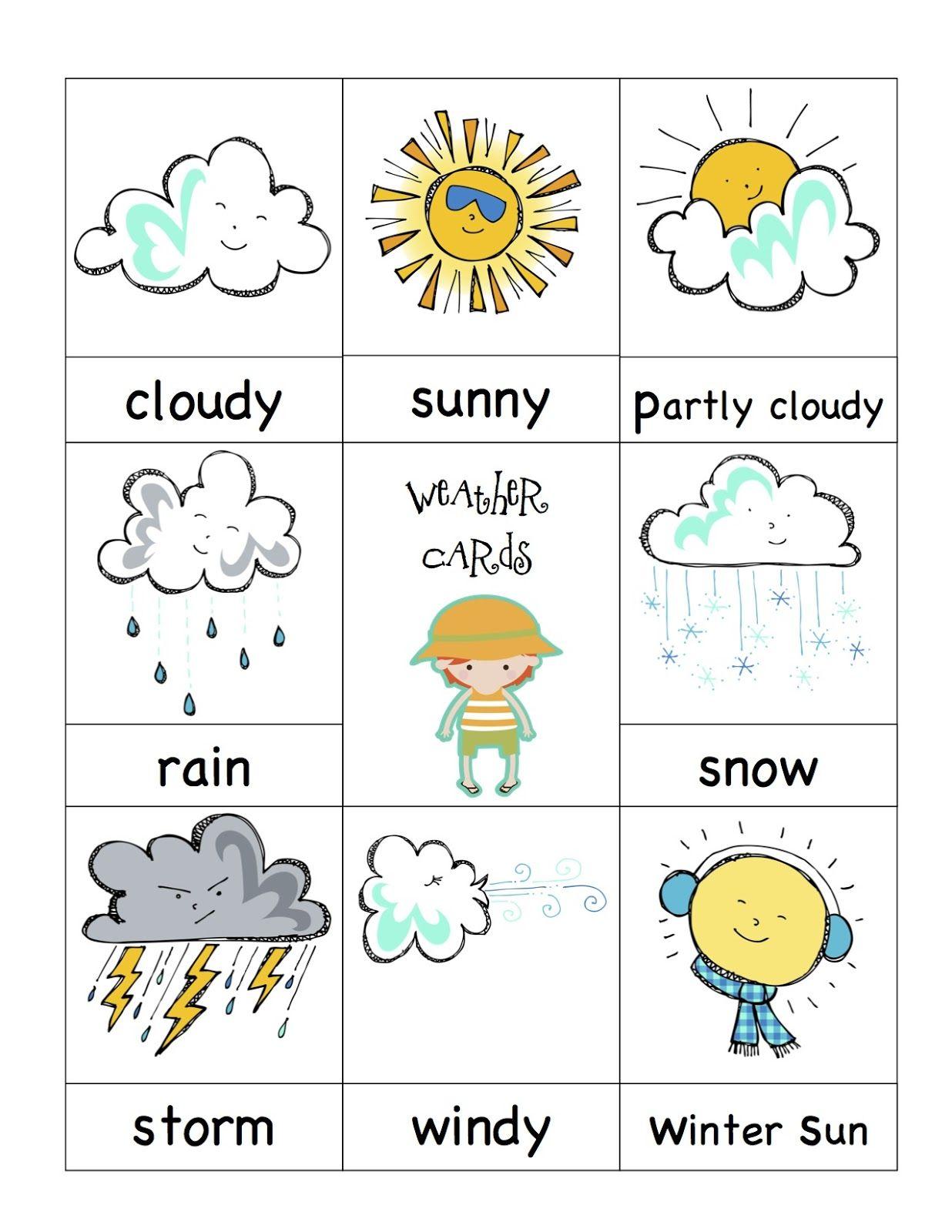 Preschool Weather Signs
