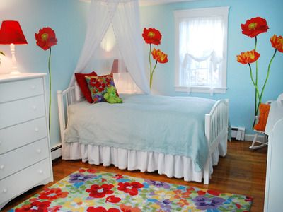 15 Easy Updates For Kids' Rooms Flower Girls And Poppies