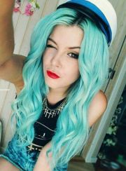 colorful hair extensions mermaid