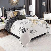 Paris Gold 8-Piece Queen Comforter Set in Gold | Queen ...