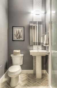 Modern Powder Room with Majestic Mirror Contemporary ...