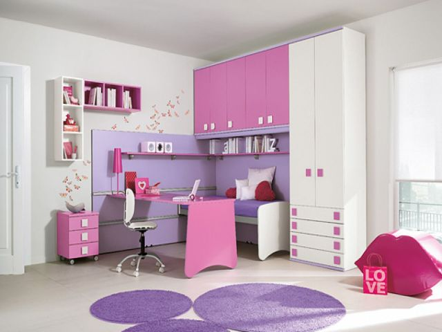 cool chic and cute pink and lilac bedroom