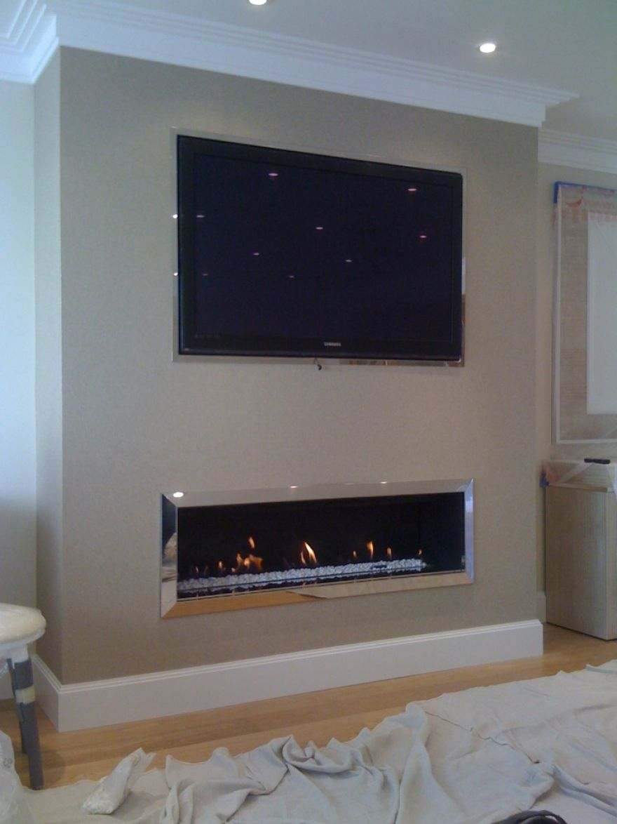 Linear Fireplace on Pinterest  Contemporary Fireplaces