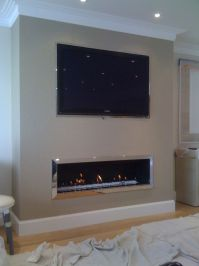 Linear Fireplace on Pinterest | Contemporary Fireplaces ...