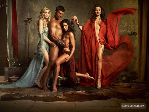 Spartacus Blood And Sand promo shot of Lucy Lawless