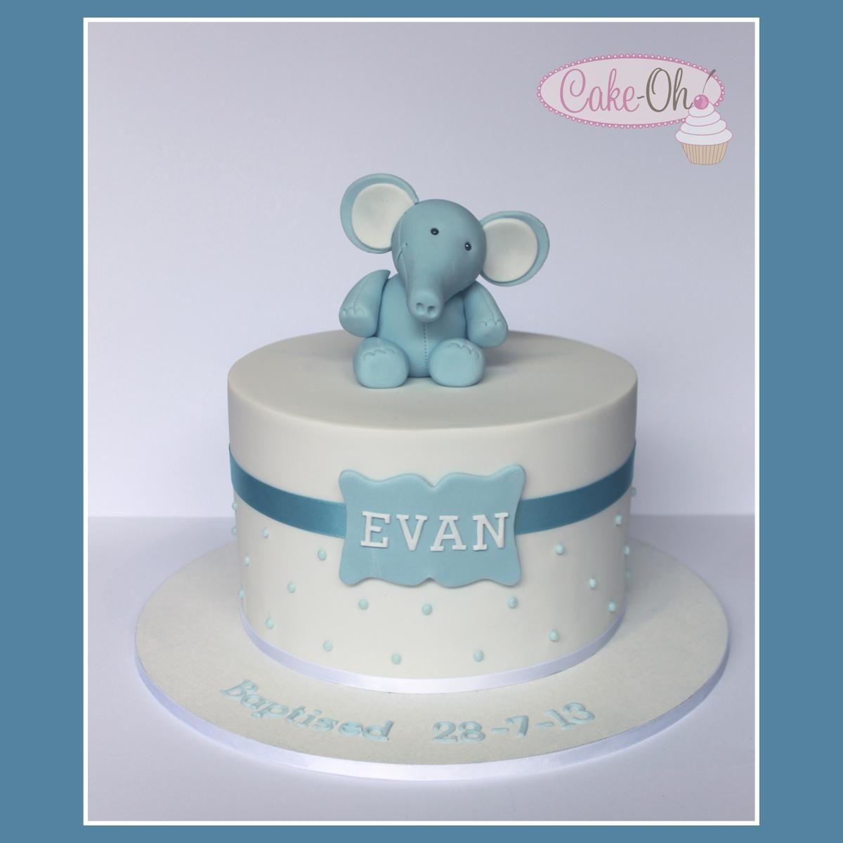 Boy S Baptism Cake Cake Oh