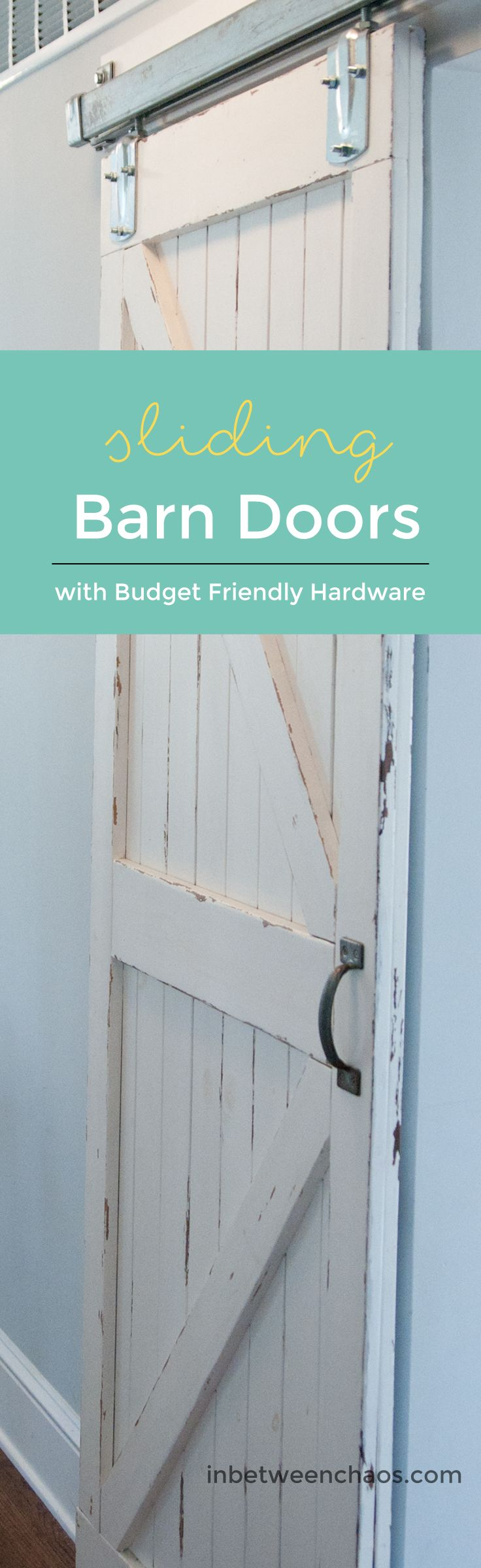 Make your own barn doors with authentic sliding barn door