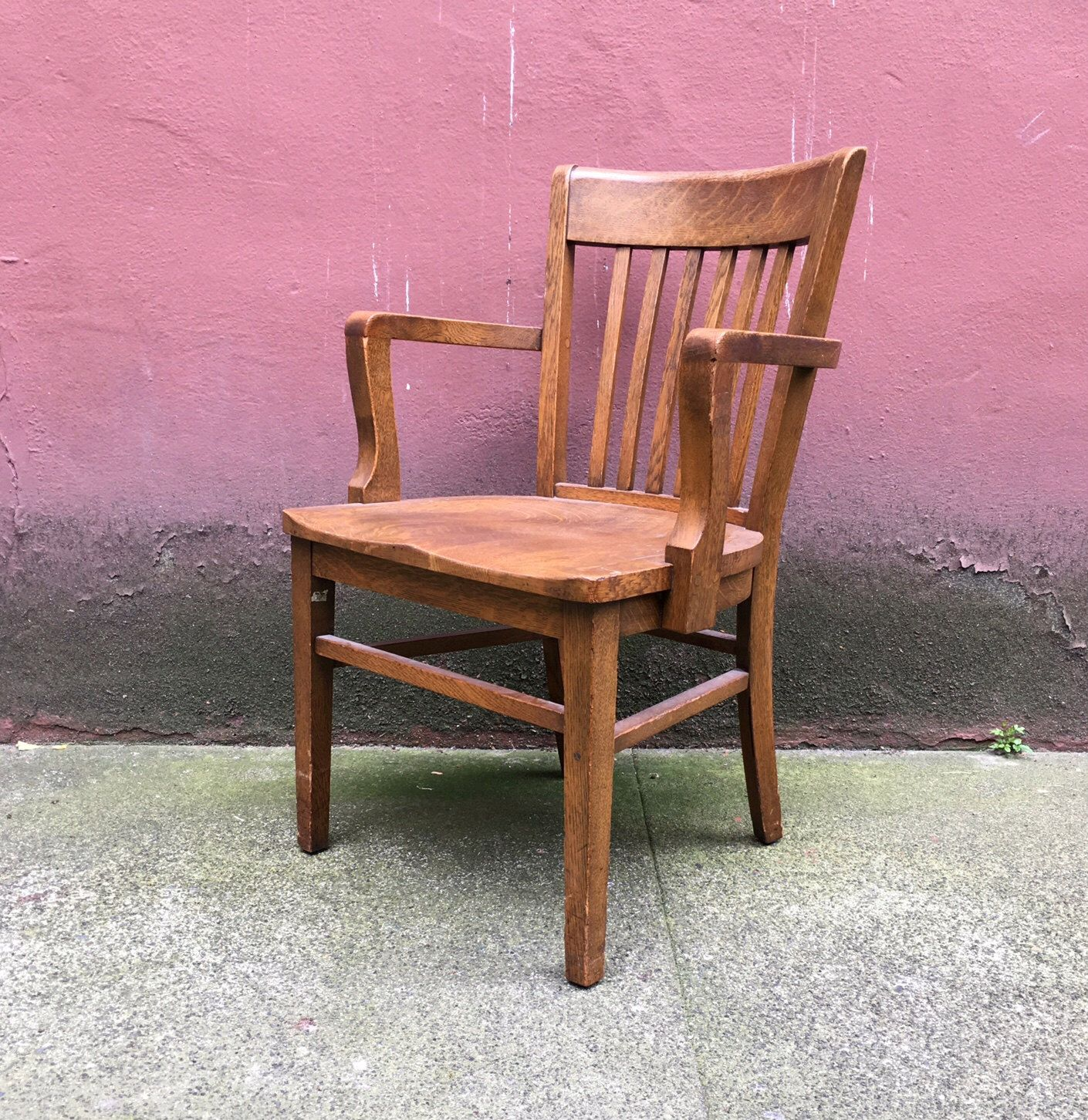 Bankers Chairs Vintage Oak Banker 39s Chair By Marble And Shattuck Chair Co