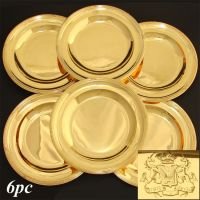 Antique French Vermeil (18k Gold) on Sterling Silver 6pc ...