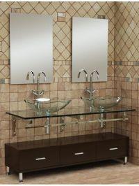 Mural of Small Bathroom Vanities With Vessel Sinks to ...