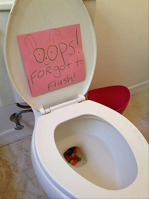Easter Bunny Prank! Put Jelly Beans In The Toilet Kids Love This