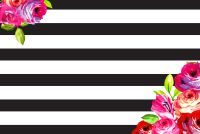 February floral and stripes phone + desktop background ...