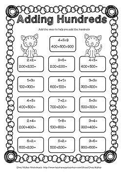Adding Hundreds Worksheets / Hundreds Addition Worksheets