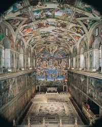 Nov. 1, 1512. Michelangelo's paintings on the ceiling of ...