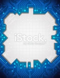 Blue abstract technology circuit lines with blank space for design royalty free stock vector also background that could be used to represent technological rh za pinterest