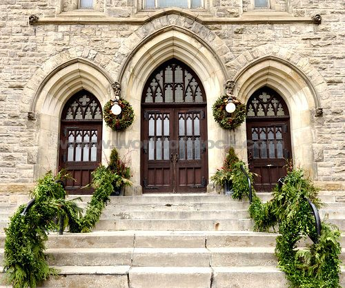 Stock Photo titled: Stone Steps Leading To Church Doors