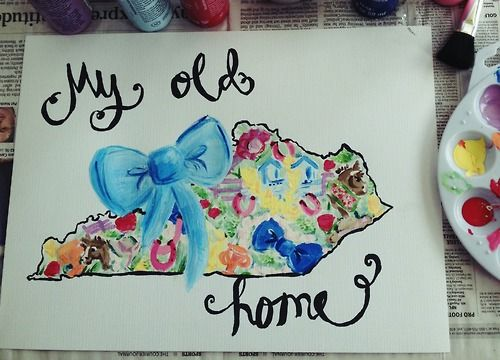 My Old Kentucky Home Painting Lilly Pulitzer Inspired Print