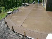 sand aggregate concrete patio - Google Search | Backyard ...