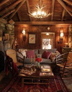 wooden cabin decorating ideas home design diy interior and more also rh pinterest