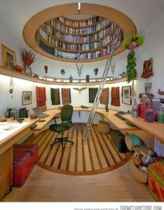 beautiful home library design ideas for large rooms and small spaces also rh pinterest
