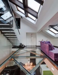 Transparent flooring in loft natural lighting solution to downstairs also rh no pinterest