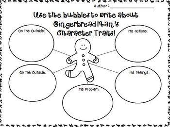 Gingerbread Writing Mini Unit focusing on Character Traits