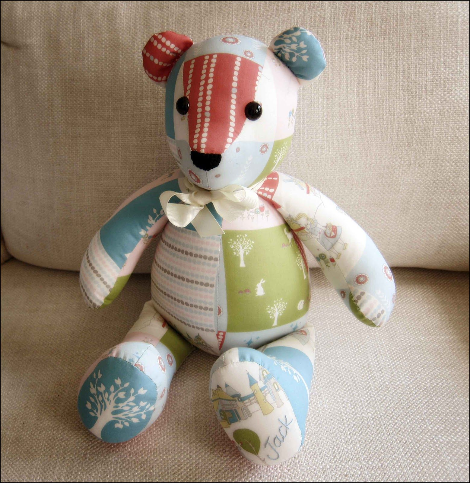 Sewing Teddy Pattern Bear Printable