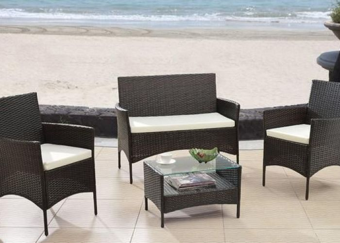 Patio furniture sets modern outdoor garden piece seat gray black wicker sofa set espresso to view further for this item also rattan brown decor