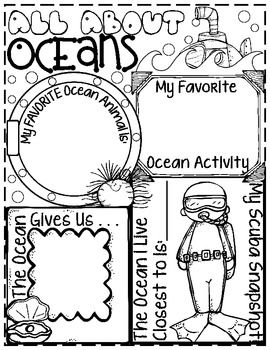 All About Oceans Poster: An Outrageous Ocean Activity