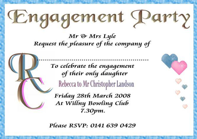 Sample Engagement Invitation Cards Templates – Format of Engagement Invitation