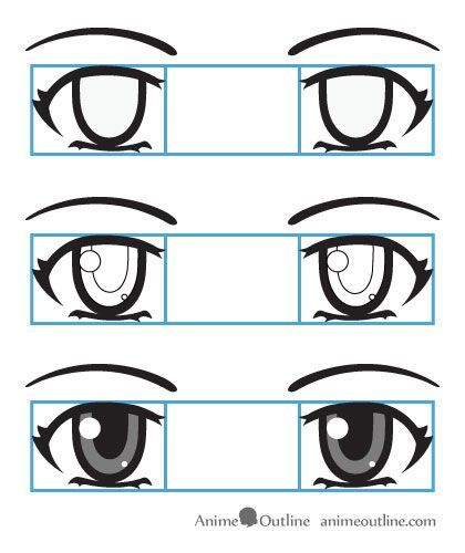 how to draw eyes step by step cartoon