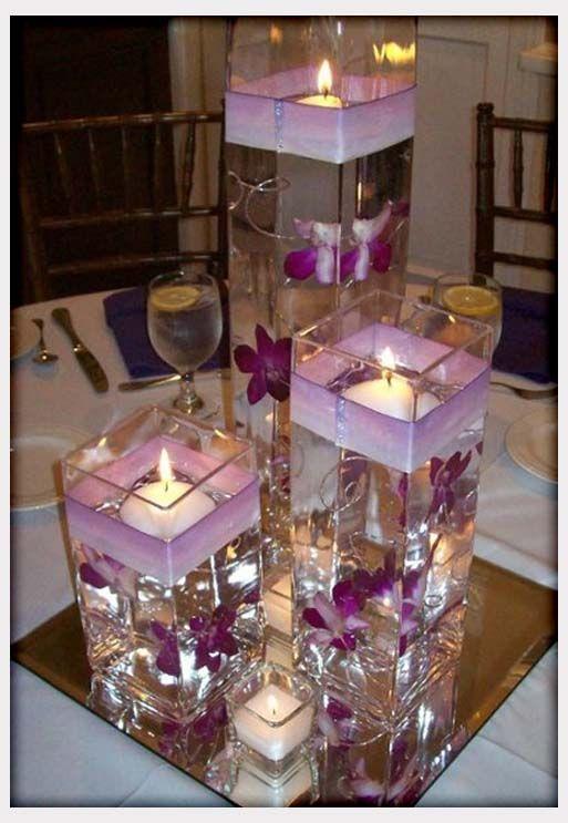 Purple Wedding Centerpieces on Pinterest  Inexpensive Wedding Flowers Korean Wedding