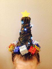 brielle christmas tree hair