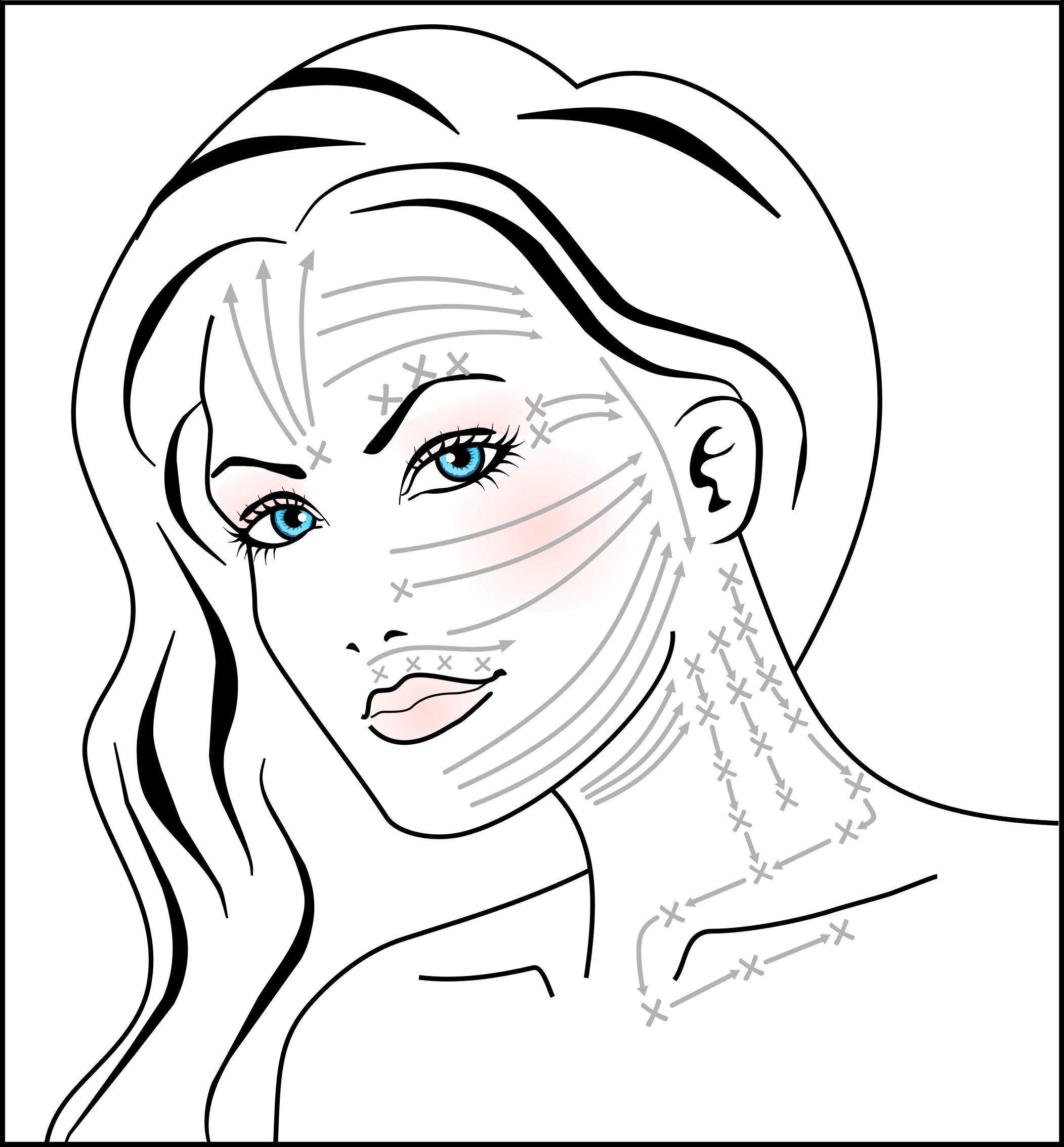massage technique diagram p bass body dimensions on how to do the mira dynamic anti aging facial