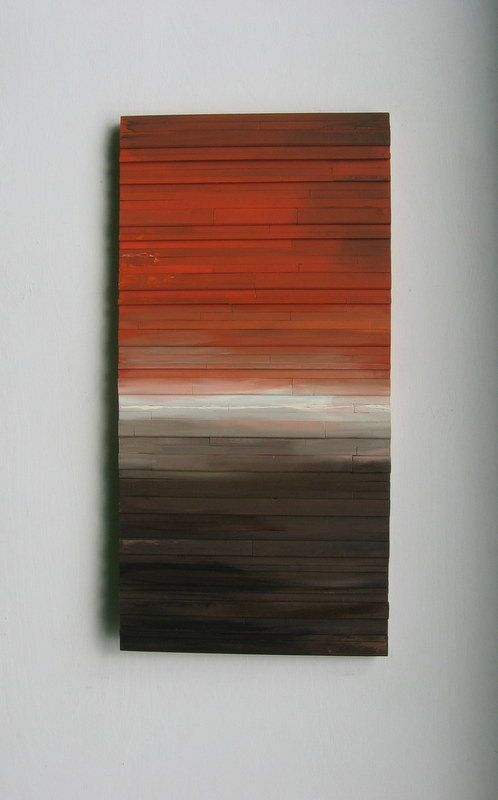 Abstract art on wood landscape modern sculpture painting wall brown and orange trending items reclaimed also by rusticmoderndesigns love the idea rh pinterest