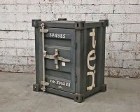 INDUSTRIAL SHIPPING CONTAINER BEDSIDE SIDE TABLE Furniture ...