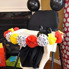 Old High Chair Ideas Plaid Wingback Birthday Boy's Chair. Mickey Mouse Party. | Party Pinterest ...