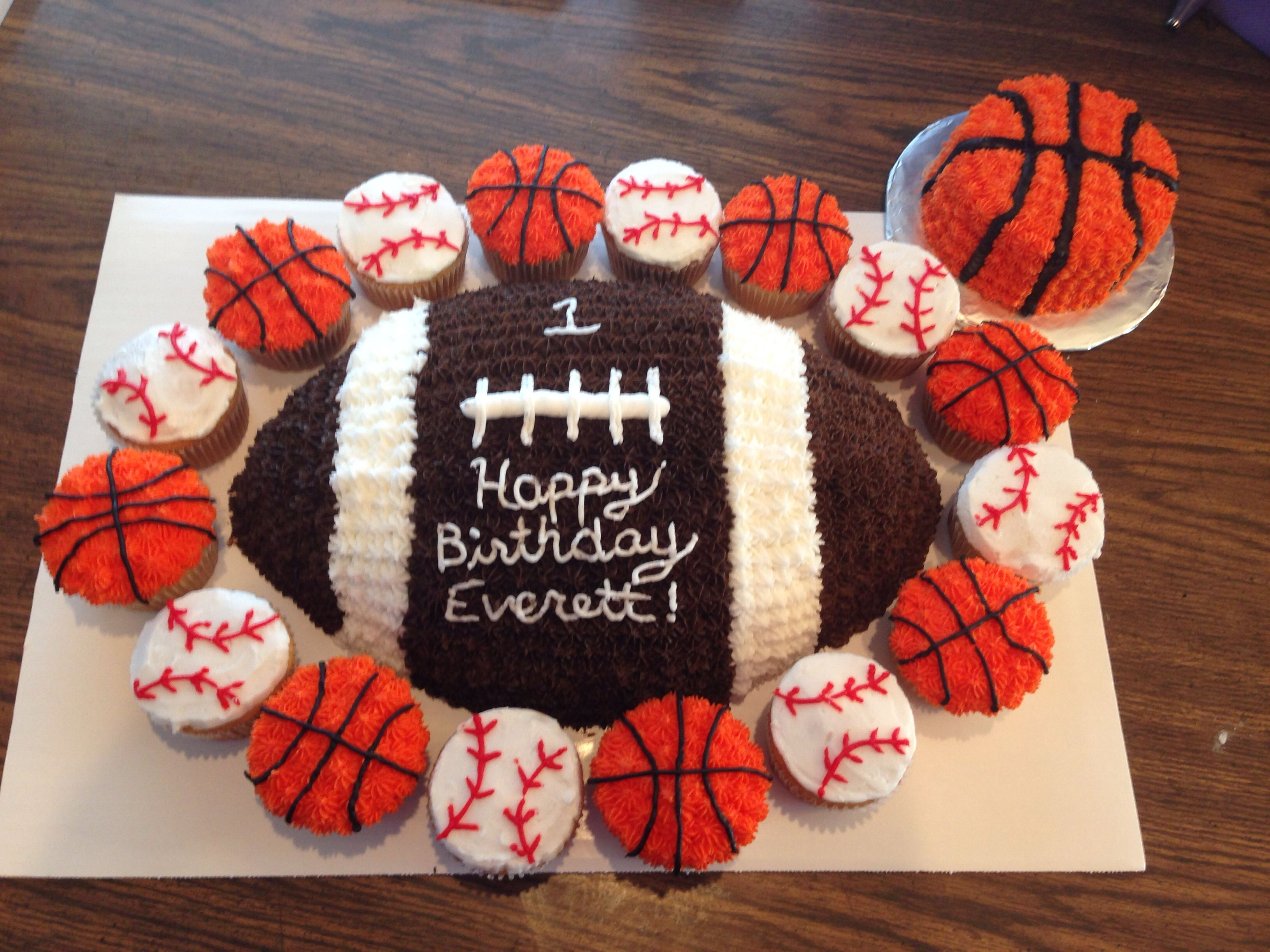 1st Birthday Sports Themed Cake With Smash Cake