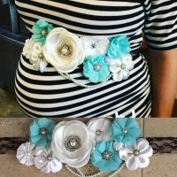 Baby shower belly sash DIY | Baby Shower Ideas | How To ...