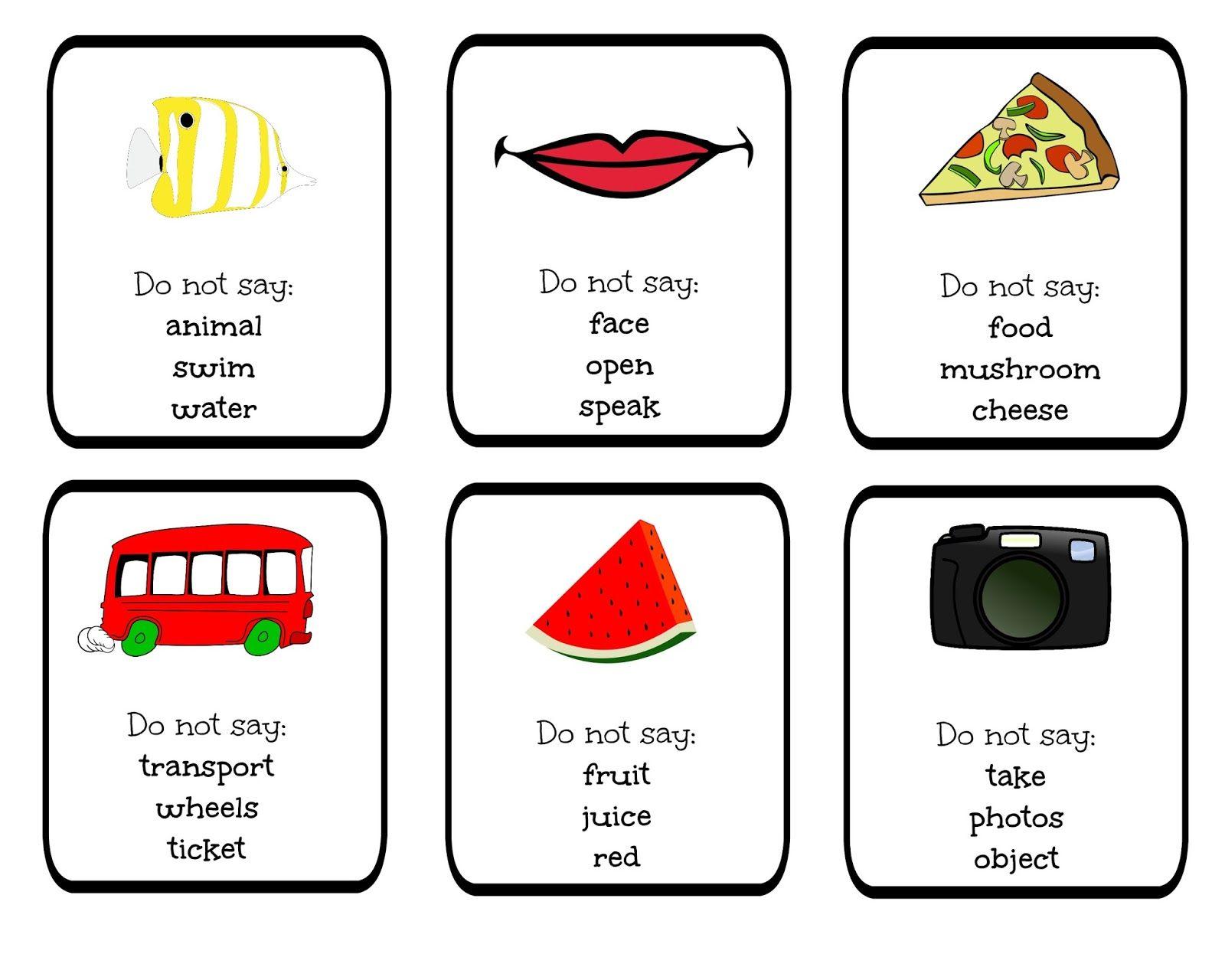 Funglish Funglish Taboo Blog Cards Games Do Not Say