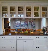 u shaped kitchen design with pass through on two sides ...