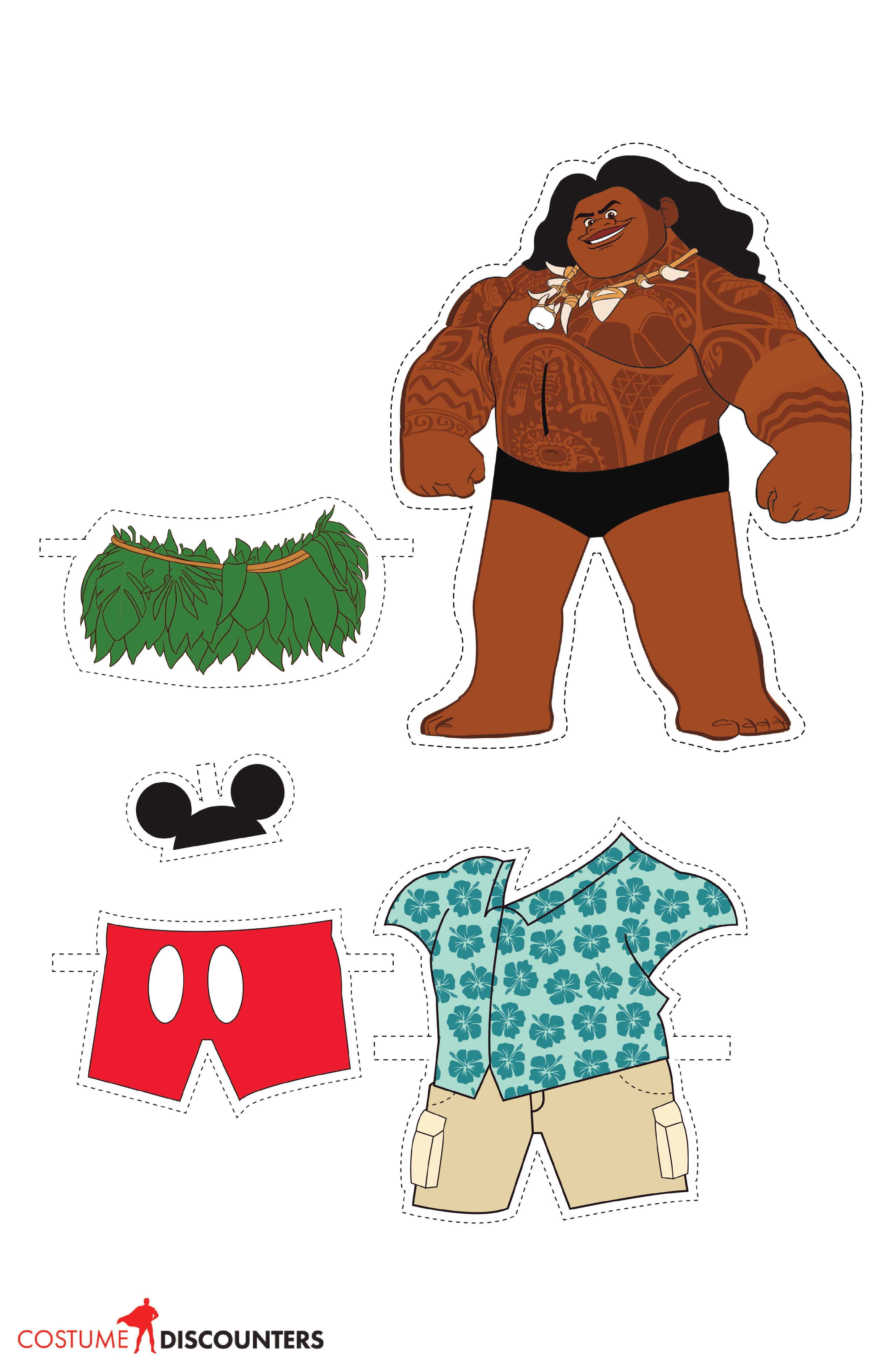 Disney S Moana Paper Dolls